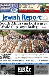 letters - South African Jewish Report