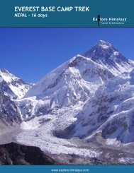 EVEREST BASE CAMP TREK NEPAL - 16 days - Explore Himalaya