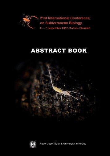 21st International Conference on Subterranean Biology - icsb2012.eu