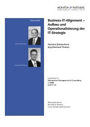 Business-IT-Alignment - Horváth & Partners Management Consultants