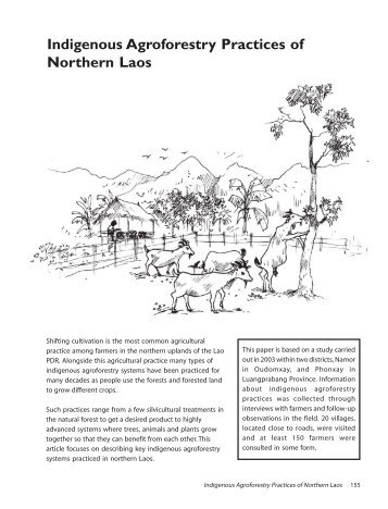Indigenous Agroforestry Practices of Northern Laos - nafri