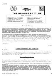 Bronze Battler February 2012 - Bass Sydney Fishing Club Inc.