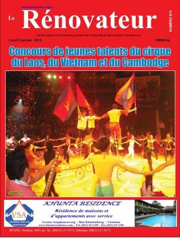 Concours de jeunes talents du cirque du Laos, du ... - Le Rénovateur