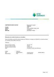 Page 1 of 2 CORPORATE EVENT NOTICE ... - Zonebourse.com