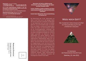 programm - Theologische Fakultät Fulda