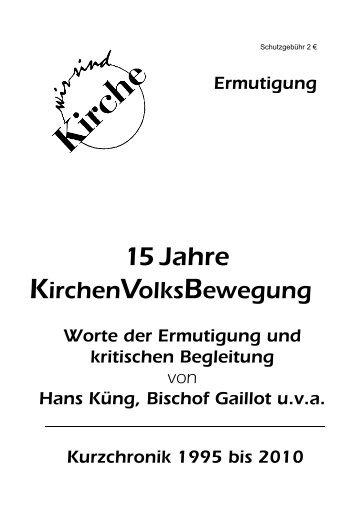 """Heft der Gelben Reihe """"15 Jahre ... - Wir sind Kirche"""
