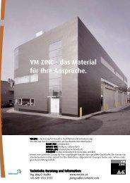 VM ZINC - das Material für Ihre Ansprüche. - FILLI STAHL