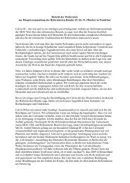 Bericht des Moderators zur Hauptversammlung ... - reformiert-info.de