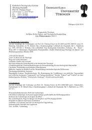 Katholisch-Theologisches Seminar Abteilung Dogmatik Prof. Dr ...