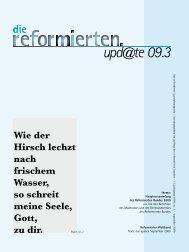 upd@te 09.3 Wie der Hirsch lechzt nach frischem ... - reformiert-info.de