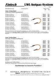 Fintech LWL-hotpac-System