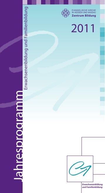Jahresprogramm 2011 – Erwachsenenbildung und Familienbildung
