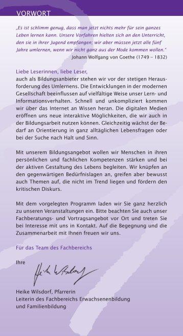 Jahresprogramm 2013 (PDF) - Zentrum Bildung