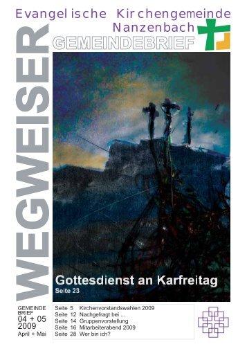 2009 Mai - Gemeindebrief online - Johannes Weil