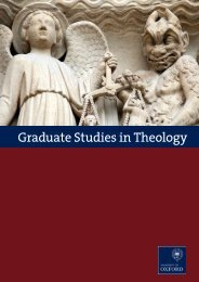 graduate studies in Theology at Oxford - Faculty of Theology ...