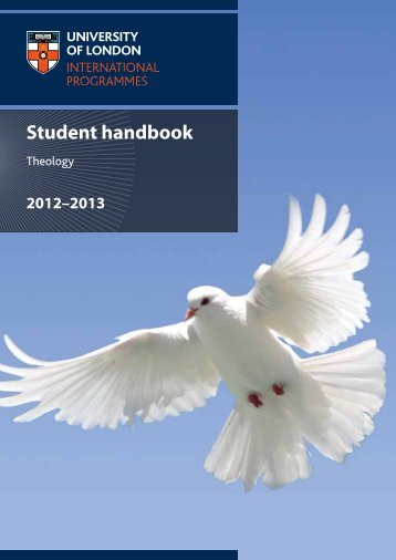 Theology: student handbook 2012-2013 - University of London ...