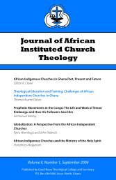 Journal of African Instituted Church Theology - Good News ...