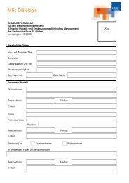 Anmeldung - Fachhochschule St. Pölten
