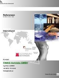 FINIKS Vertriebs GMBH National Referenzen - Finiks GmbH