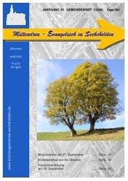 Herzliche Einladung - Kirchengemeinde Sechshelden