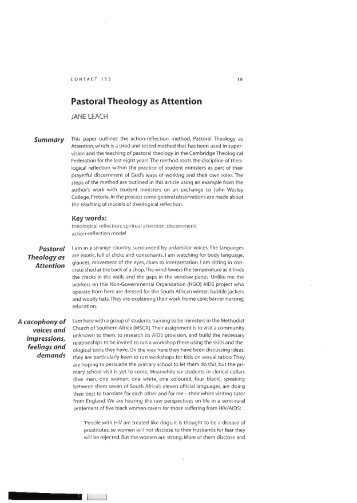 an introduction to theological reflection The pastor as practical theologian  theological educators to train students in the skills of practical theological reflection  an introduction worth reading.
