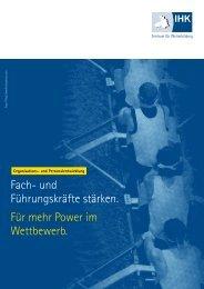 Broschüre Organisations- und Personalentwicklung