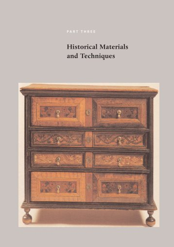 Historical Materials and Techniques