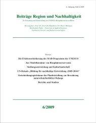 Beiträge Region u Nachhaltigkeit 2009 - Wissenschaftliche ...