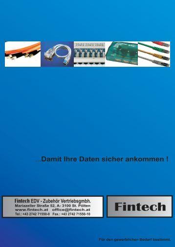 Damit Ihre Daten sicher ankommen ! EDV - Fintech