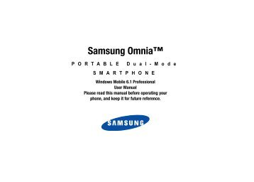 Samsung Omnia™ - Cell Phones Etc.