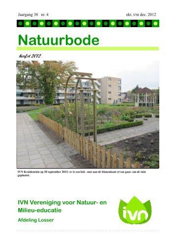 en Milieu-educatie Afdeling Losser Natuurbode herfst 2012 - IVN