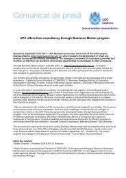 UPC Offers Free Consultancy Through Business Mentor Program