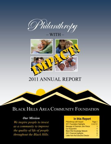 2011 ANNUAL REPORT - Black Hills Area Community Foundation