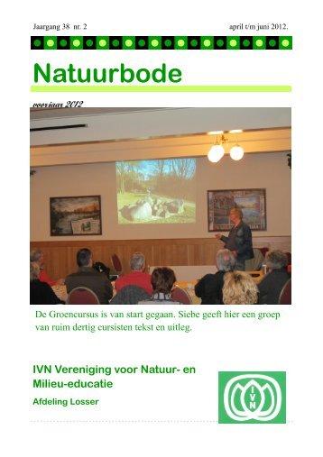 en Milieu-educatie Afdeling Losser Natuurbode voorjaar 2012 - IVN