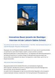 Interview mit der Lektorin Sabine Schmid - BauZEIT Netzwerk