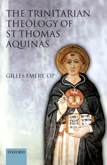 The Trinitarian Theology of Saint Thomas Aquinas - El Camino ...