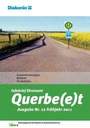 Infobrief Ehrenamt Querbe(e)t Ausgabe Nr. 12 Frühjahr 2011