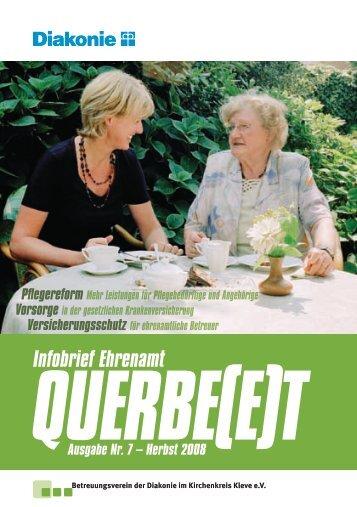 Infobrief Ehrenamt QUERBE(E)T Ausgabe Nr. 7 – Herbst 2008