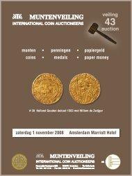 VEILING Zaterdag 1 november 2008 - Theo Peters | Numismatiek ...