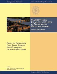 Marketing & Communications in Nonprofit Organizations - Center for ...