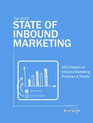 The 2012 State of Inbound Marketing - HubSpot