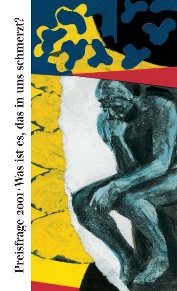 Preisfrage 2001 - Die Junge Akademie