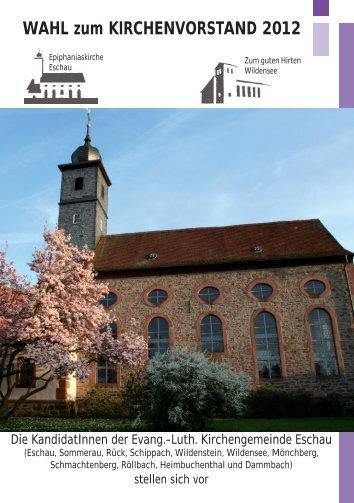 WAHL zum KIRCHENVORSTAND 2012 - Evangelisch-lutherische ...