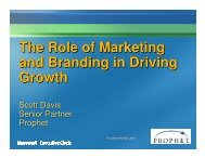 The Role of Marketing and Branding in Driving Growth The ... - Prophet