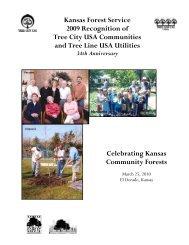 Celebrating Kansas Community Forests Kansas Forest Service ...
