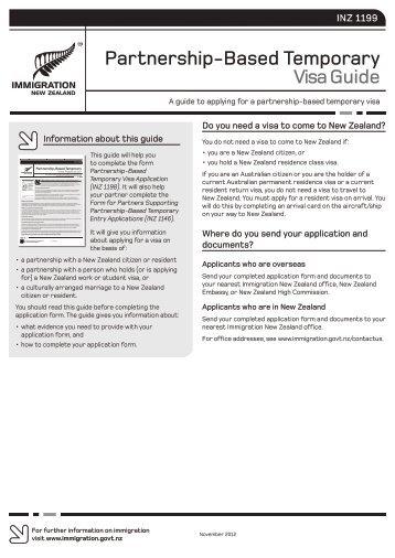 Partnership-Based Temporary Visa Guide (INZ 1199) - New Zealand ...