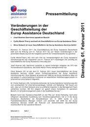 D ien stag , 01. F eb ru ar 2011 - Europ Assistance
