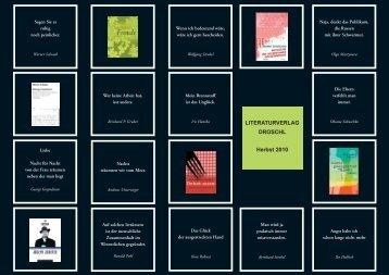 Wolfgang Denkel - Literaturverlag Droschl