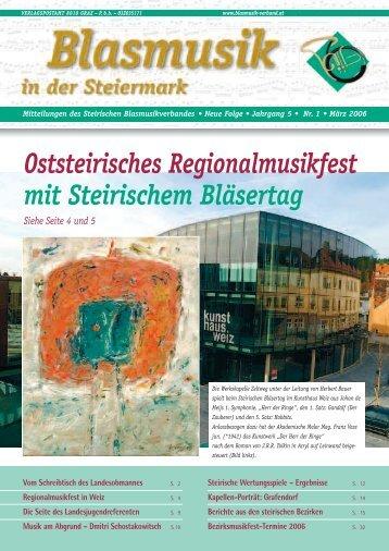 Oststeirisches Regionalmusikfest mit Steirischem Bläsertag