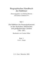 Biographisches Handbuch der Rabbiner - Salomon Ludwig ...